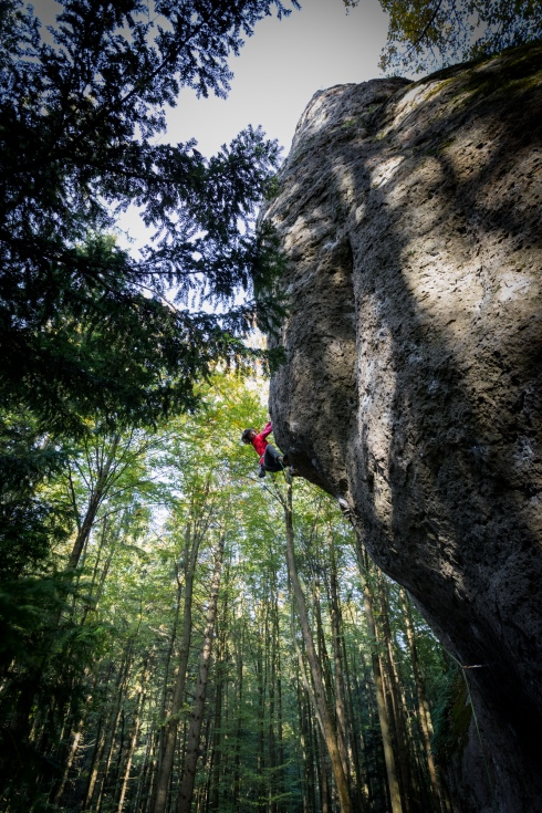 Katie Lambert climbs one of the classics in the Frankenjura.