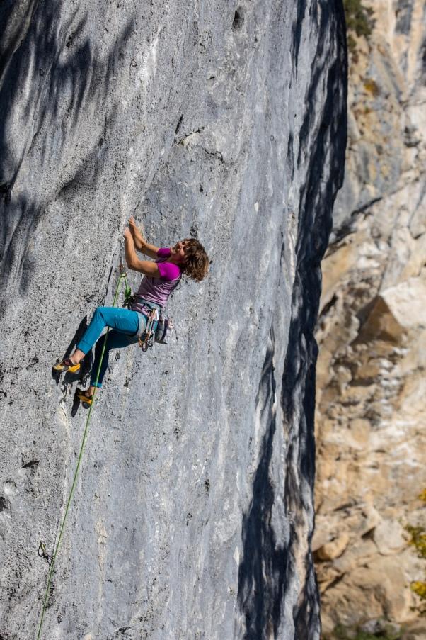 We climbed stellar rock in the famous Austrian cliff:  Schleierwasserfall.